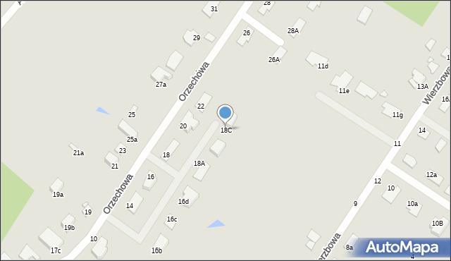 Grudziądz, Orzechowa, 18C, mapa Grudziądza