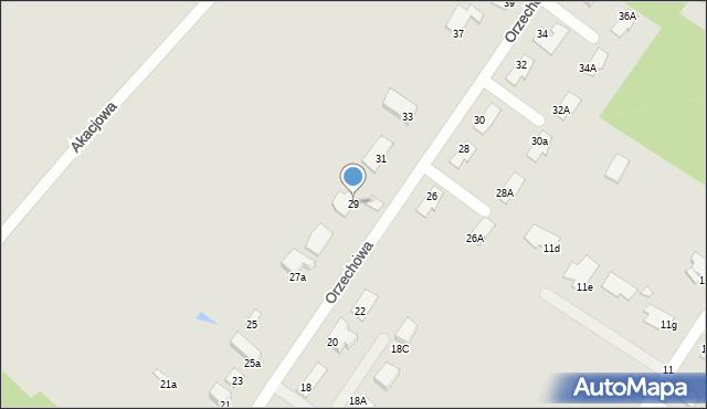 Grudziądz, Orzechowa, 29, mapa Grudziądza