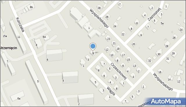 Grudziądz, Orzeszkowej Elizy, 9, mapa Grudziądza