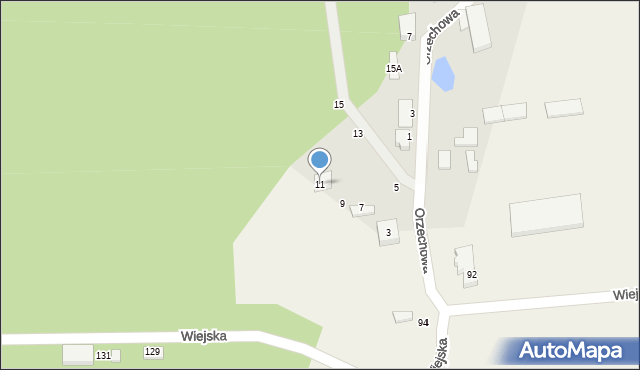 Kębłowo, Orzechowa, 11, mapa Kębłowo