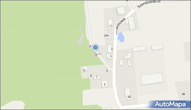 Kębłowo, Orzechowa, 13, mapa Kębłowo