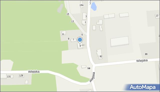 Kębłowo, Orzechowa, 3, mapa Kębłowo