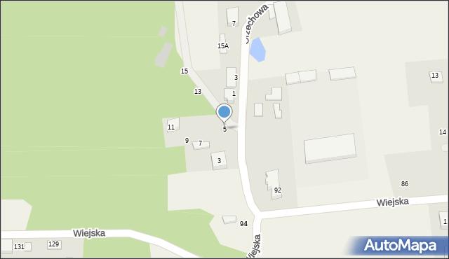 Kębłowo, Orzechowa, 5, mapa Kębłowo