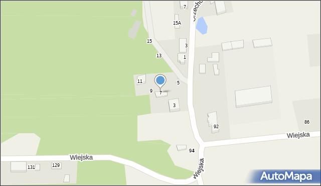Kębłowo, Orzechowa, 7, mapa Kębłowo