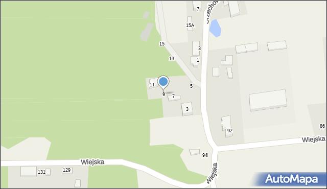 Kębłowo, Orzechowa, 9, mapa Kębłowo