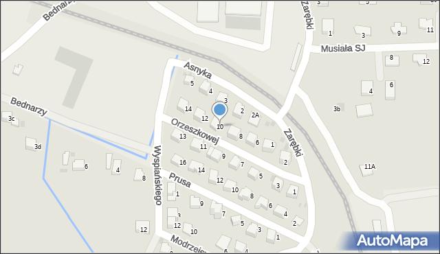 Limanowa, Orzeszkowej Elizy, 10, mapa Limanowa