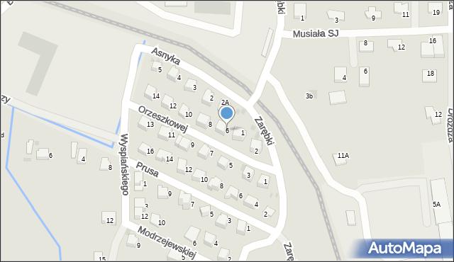 Limanowa, Orzeszkowej Elizy, 6, mapa Limanowa