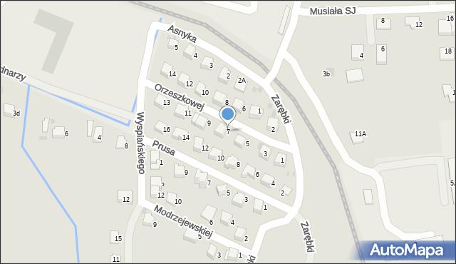 Limanowa, Orzeszkowej Elizy, 7, mapa Limanowa