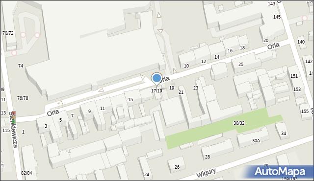 Łódź, Orla, 17/19, mapa Łodzi