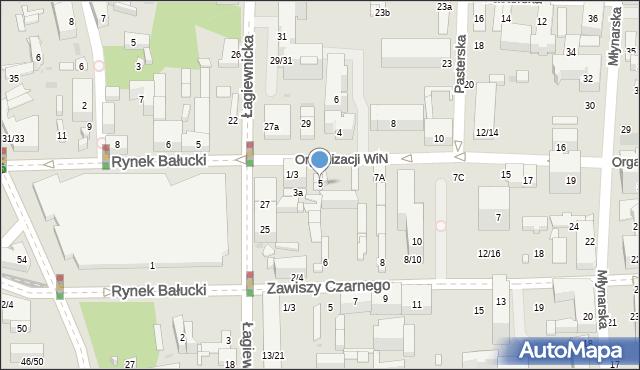 Łódź, Organizacji Wolność i Niezawisłość, 5, mapa Łodzi