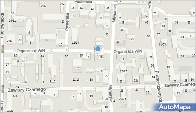 Łódź, Organizacji Wolność i Niezawisłość, 9, mapa Łodzi