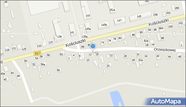 Lubaczów, Orzeszkowej Elizy, 14, mapa Lubaczów