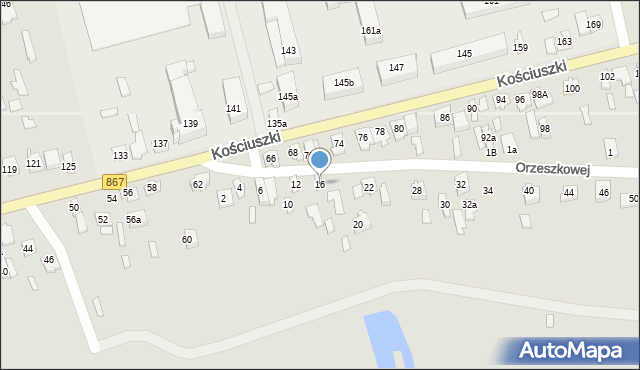 Lubaczów, Orzeszkowej Elizy, 16, mapa Lubaczów