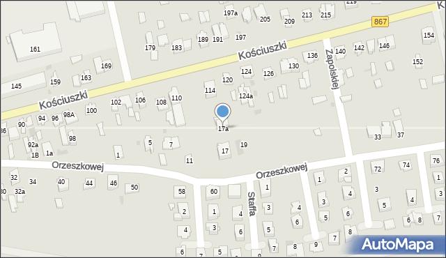 Lubaczów, Orzeszkowej Elizy, 17a, mapa Lubaczów