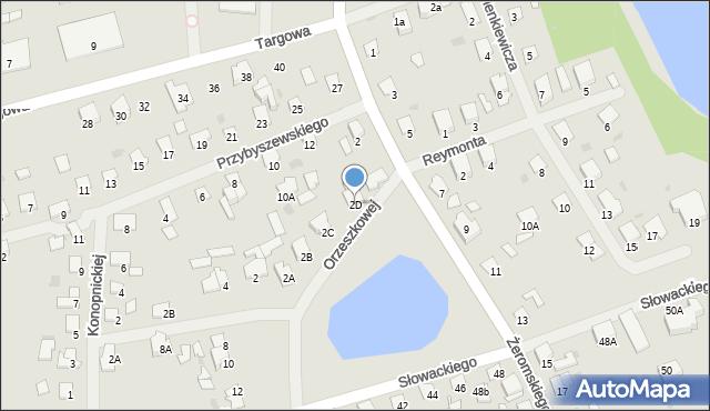 Olecko, Orzeszkowej Elizy, 2D, mapa Olecko