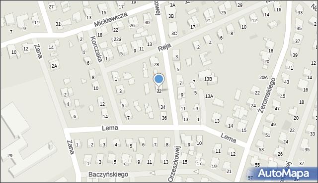 Olecko, Orzeszkowej Elizy, 32, mapa Olecko