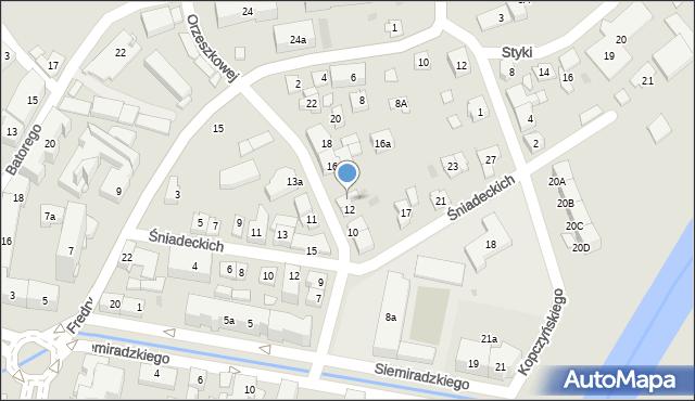 Rzeszów, Orzeszkowej Elizy, 14, mapa Rzeszów