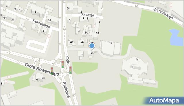 Sosnowiec, Orla, 1C, mapa Sosnowca