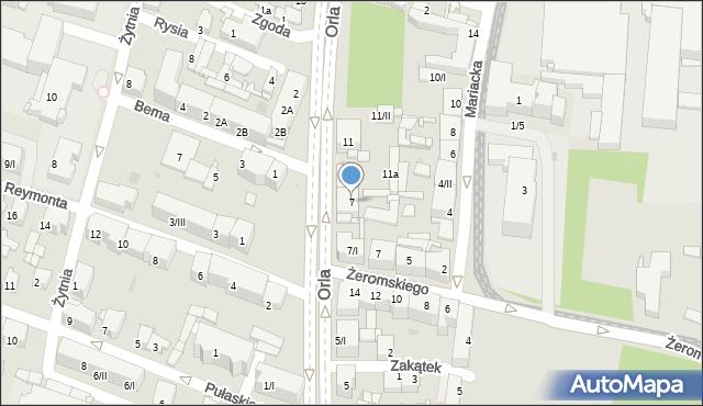 Sosnowiec, Orla, 7, mapa Sosnowca