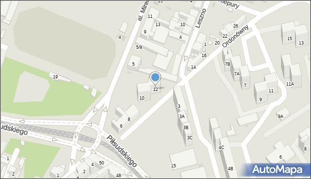 Sosnowiec, Ordonówny Hanki, 12, mapa Sosnowca