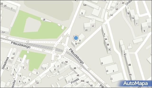 Sosnowiec, Ordonówny Hanki, 6, mapa Sosnowca