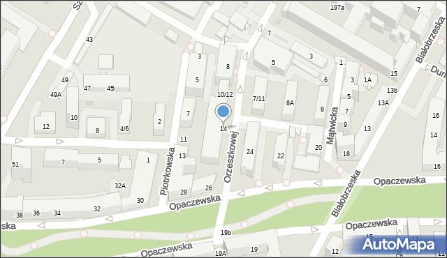 Warszawa, Orzeszkowej Elizy, 14, mapa Warszawy