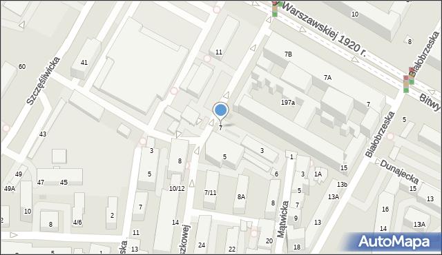 Warszawa, Orzeszkowej Elizy, 7, mapa Warszawy