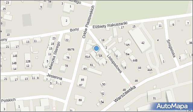 Warszawa, Orłów Piastowskich, 57, mapa Warszawy