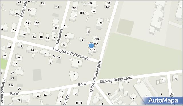 Warszawa, Orłów Piastowskich, 60B, mapa Warszawy
