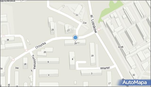 Warszawa, Orzycka, 24, mapa Warszawy