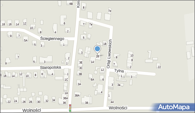 Zabrze, Orląt Lwowskich, 16, mapa Zabrza