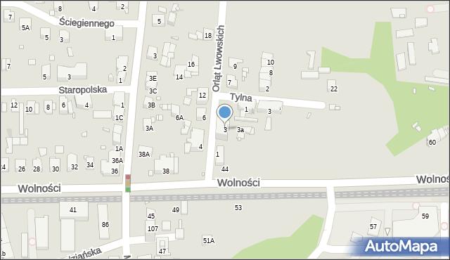 Zabrze, Orląt Lwowskich, 3, mapa Zabrza