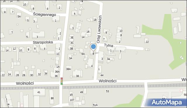 Zabrze, Orląt Lwowskich, 6, mapa Zabrza