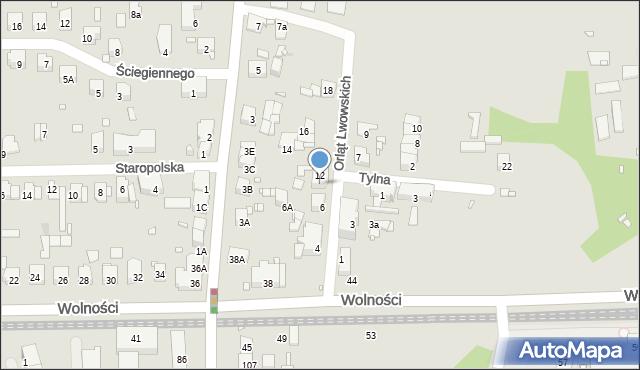 Zabrze, Orląt Lwowskich, 8, mapa Zabrza