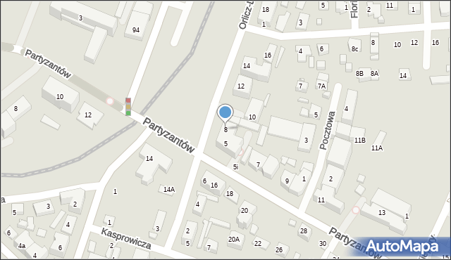 Zamość, Orlicz-Dreszera Gustawa, gen., 8, mapa Zamościa