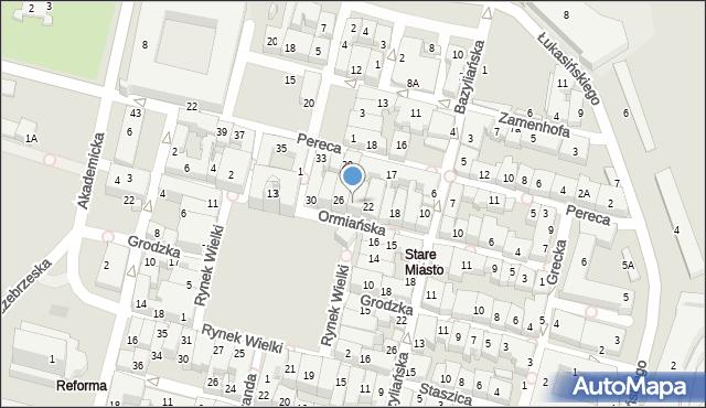 Zamość, Ormiańska, 24, mapa Zamościa