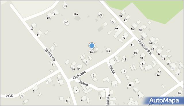Bytom, Osikowa, 7, mapa Bytomia