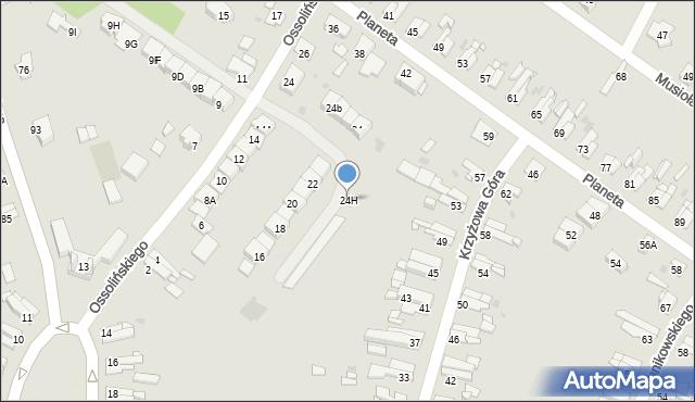 Bytom, Ossolińskiego Jerzego, 24H, mapa Bytomia
