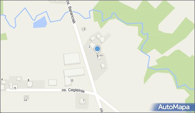 Chocznia, Osiedle Baranciak, 3, mapa Chocznia