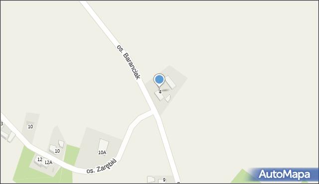 Chocznia, Osiedle Baranciak, 4, mapa Chocznia