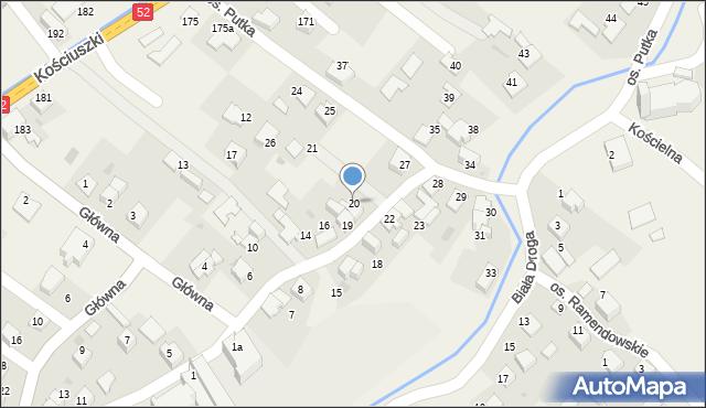 Chocznia, Osiedle Putka Józefa, dr., 20, mapa Chocznia
