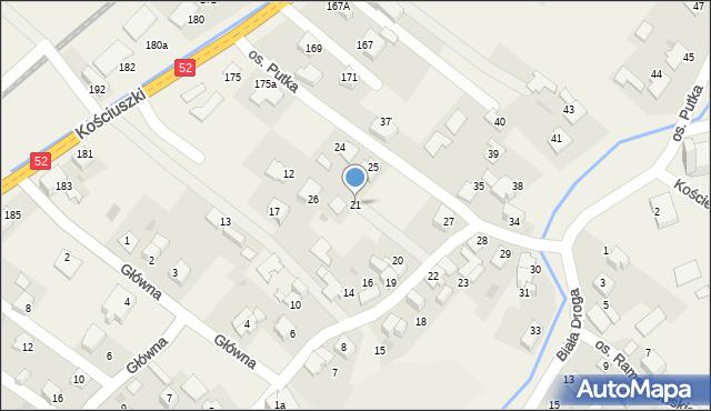 Chocznia, Osiedle Putka Józefa, dr., 21, mapa Chocznia