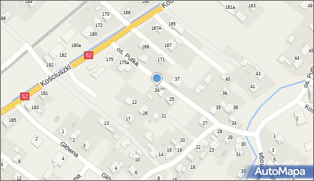 Chocznia, Osiedle Putka Józefa, dr., 24, mapa Chocznia