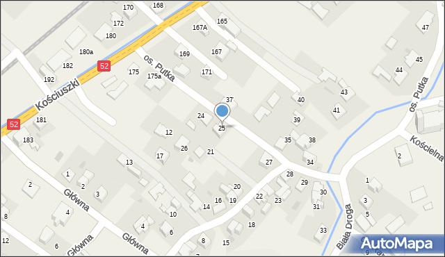 Chocznia, Osiedle Putka Józefa, dr., 25, mapa Chocznia