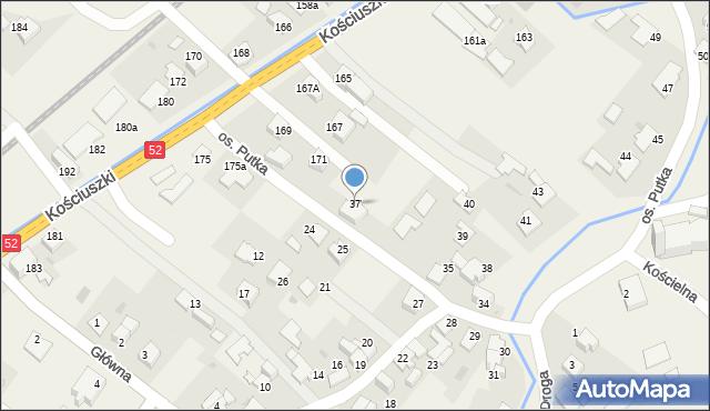 Chocznia, Osiedle Putka Józefa, dr., 37, mapa Chocznia