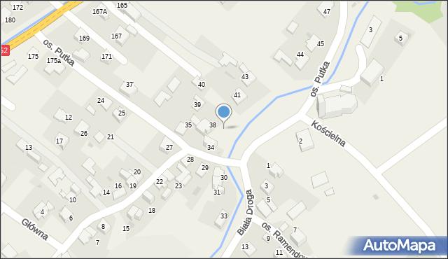 Chocznia, Osiedle Putka Józefa, dr., 38a, mapa Chocznia