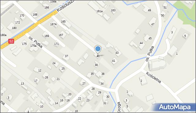Chocznia, Osiedle Putka Józefa, dr., 40, mapa Chocznia