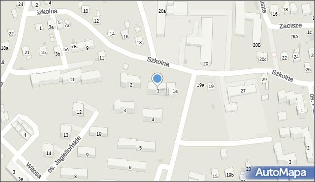 Dobczyce, Osiedle Jagiellońskie, 1, mapa Dobczyce