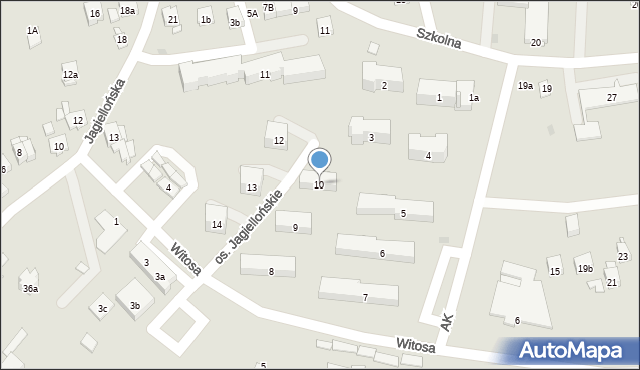 Dobczyce, Osiedle Jagiellońskie, 10, mapa Dobczyce
