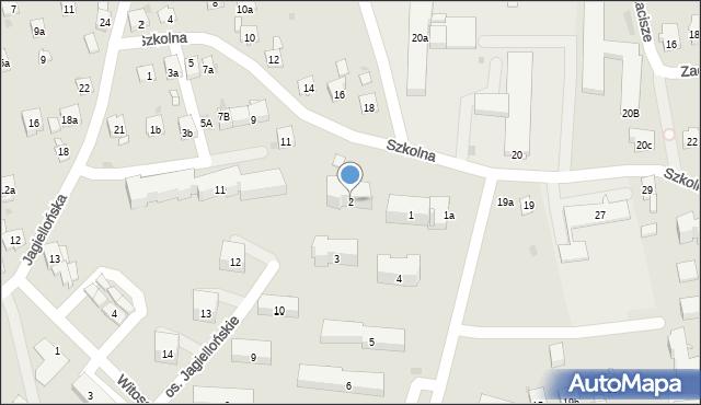 Dobczyce, Osiedle Jagiellońskie, 2, mapa Dobczyce
